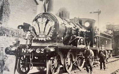 When did the first Royal Train steam into Wolferton?